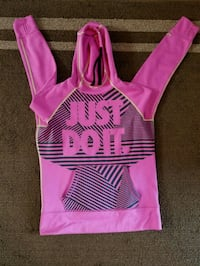 pink and white stripe pullover hoodie Grove City, 43123