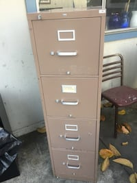 brown metal 4-drawer filing cabinet San Jose, 95116