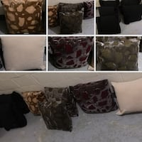 DESIGNER  THROW  CUSHIONS - 10 ASSORTED COLOURS/STYLES - BRAND NEW Toronto