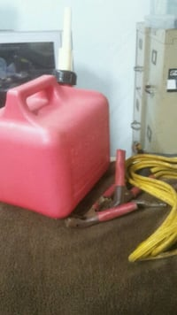 jumper cable + gas jugs