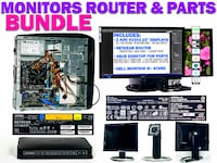 Three Monitors One Router and One PC (for Parts) Westlake Village