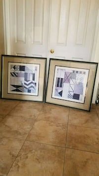 2 large 32x32 abstract pictures  Henderson, 89014