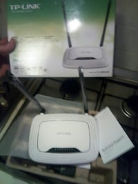 router wireless TP-Link bianco con scatola
