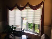 Valance & blinds - excellent condition