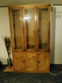 brown wooden framed glass display cabinet Tucson, 85713