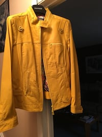 Yellow leather zip-up jacket Ajax, L1S 1X1