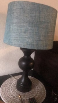 black and gray table lamp 22 km