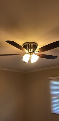 brown 5-blade ceiling fan with light Costa Mesa, 92627