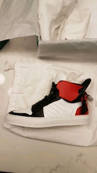 *BRAND NEW* Buscemi black/red/white hightop shoes Burnaby, V5A
