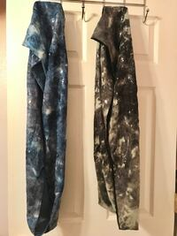 ** 2 BRAND NEW ** BEAUTIFUL BLUE AND BLACK WITH EYE CATCHING SHIMMERING SEQUENCE ACCENT INFINITY SCARFS  Colorado Springs, 80907
