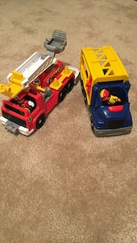 two red and yellow plastic toy cars Clarksburg, 20871