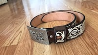 black leather belt with silver buckle Dallas, 75243