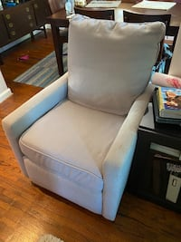 Custom Heather Grey Wide Baby Glider with Recliner