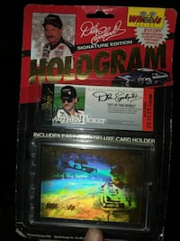 Dale Earnhardt collectible hologram card  Bristol, 37620