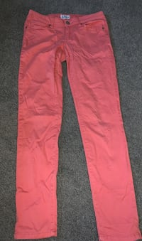 Peach jeggings size 4