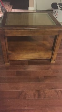 square brown wooden coffee table Edmonton, T6C 2L3
