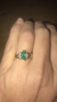 Real emerald marquis cut ring set in gold. Size 7. This is not a lab created emerald Austin, 78719