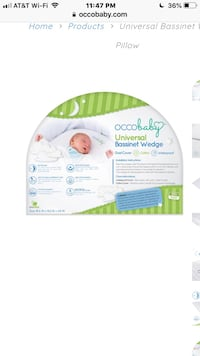 Occobaby bassinet and pregnancy wedge pillow new! Clifton, 20124