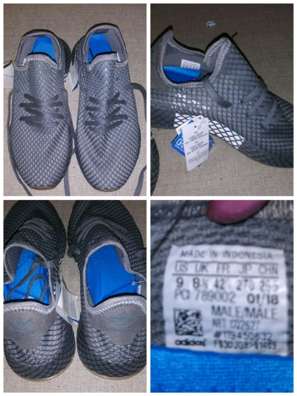 7aaebe48b84475 Used pair of gray-and-blue running shoes for sale in Smyrna - letgo