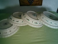 white and green floral ceramic plate Summit Point, 25446