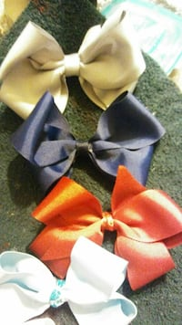 Simple plain solid bows Magnolia, 77354