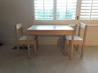 IKEA kid table and two chairs  Herndon, 20170