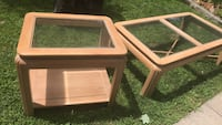 glass top  sofa tables $20 each or $35 for both Shoreham, 11786