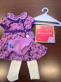 American Girl Doll Purple Floral Outfit Ocean Grove, 07753