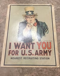 Vintage Uncle Sam I want You For US Army 1968