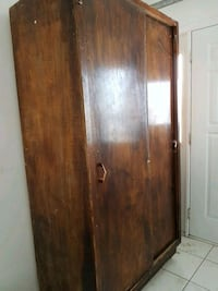 brown wooden 2-door cabinet Edmonton
