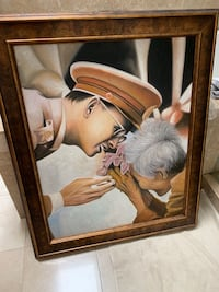 Thai king canvas hand painted with frame Belmont, 94002
