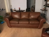 brown leather 3-seat sofa Alexandria, 22314