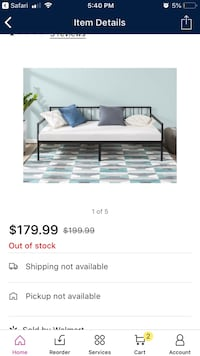 New in box Twin Day Bed!  Really cute!!! Concord