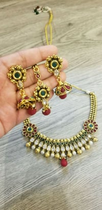 Polki necklace set with earrings and tikka Brampton, L6Y 3P8