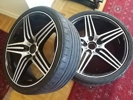4 wheels with tires $150 each