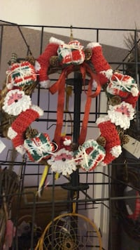 """Handcrafted 12"""" Christmas wreath"""
