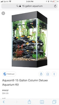 15 gallon saltwater tank with stand & livestock Bartlett, 38134