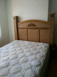 brown wooden bed frame with mattress Montréal, H4H 1V9