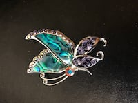 silver and blue gemstone pendant necklace