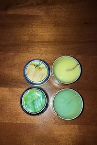 Vanilla and Green Apple scented candles