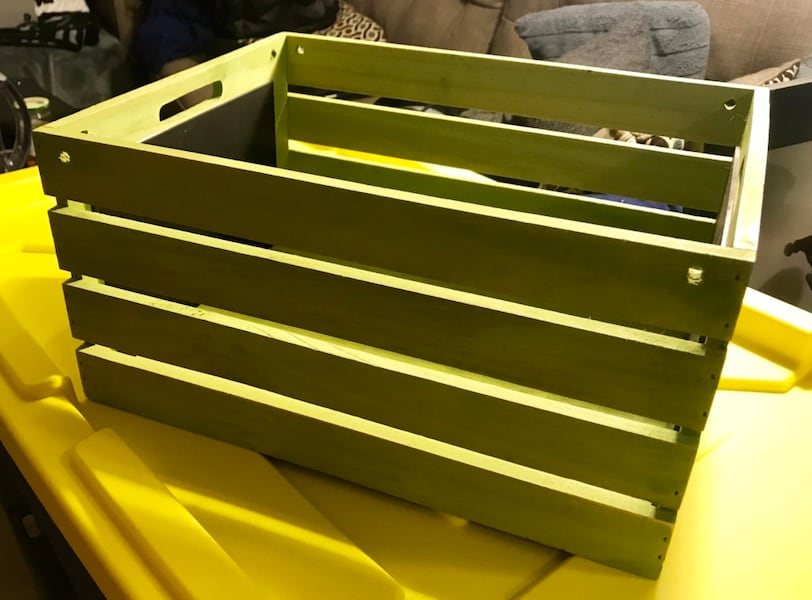 "Wooden Crate - lime green - 18"" x 12"" 491a88c2-bb86-41f9-9a52-cf402a0dbe68"