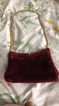 Vintage Caggiano Red Velvet Purse Vancouver, V6E 1G5