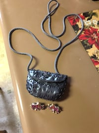 Elephant stud earings and small shoulder purse. Make a great  gift