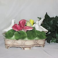 Large Vintage Capodimonte Figurines Roses & Doves  Mississauga
