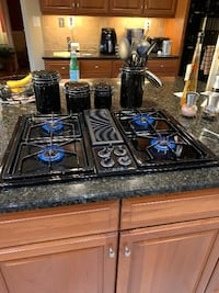 """30"""" GE Profile Gas Cooktop with downdraft"""