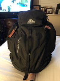Kelty survival backpack, included with supplies.