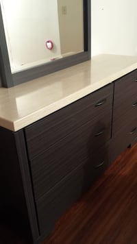 brown wooden dresser with mirror Mississauga, L5R 3Z5