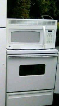 white General Electric microwave and oven Louisville