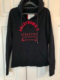 Women's Size L Abercrombie hoodie. Fits like Medium. Has two small stains on the front that arent very visible. Heavy warm hoodie!  14 km