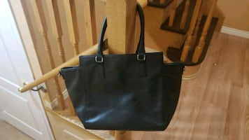 Very Used H&M Black Faux Leather Handbag